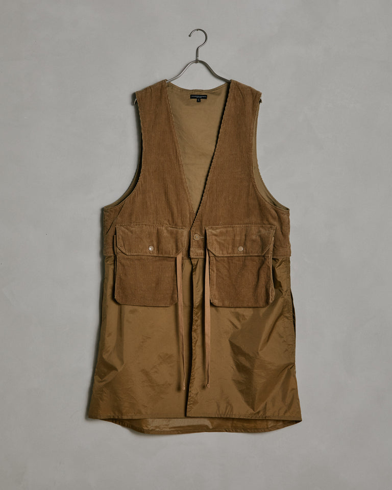 Shoulder Vest in Dark Brown