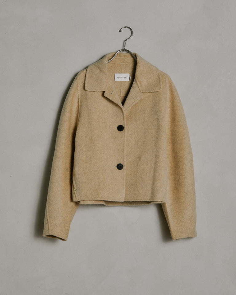 Handmade Short Coat in Light Yellow