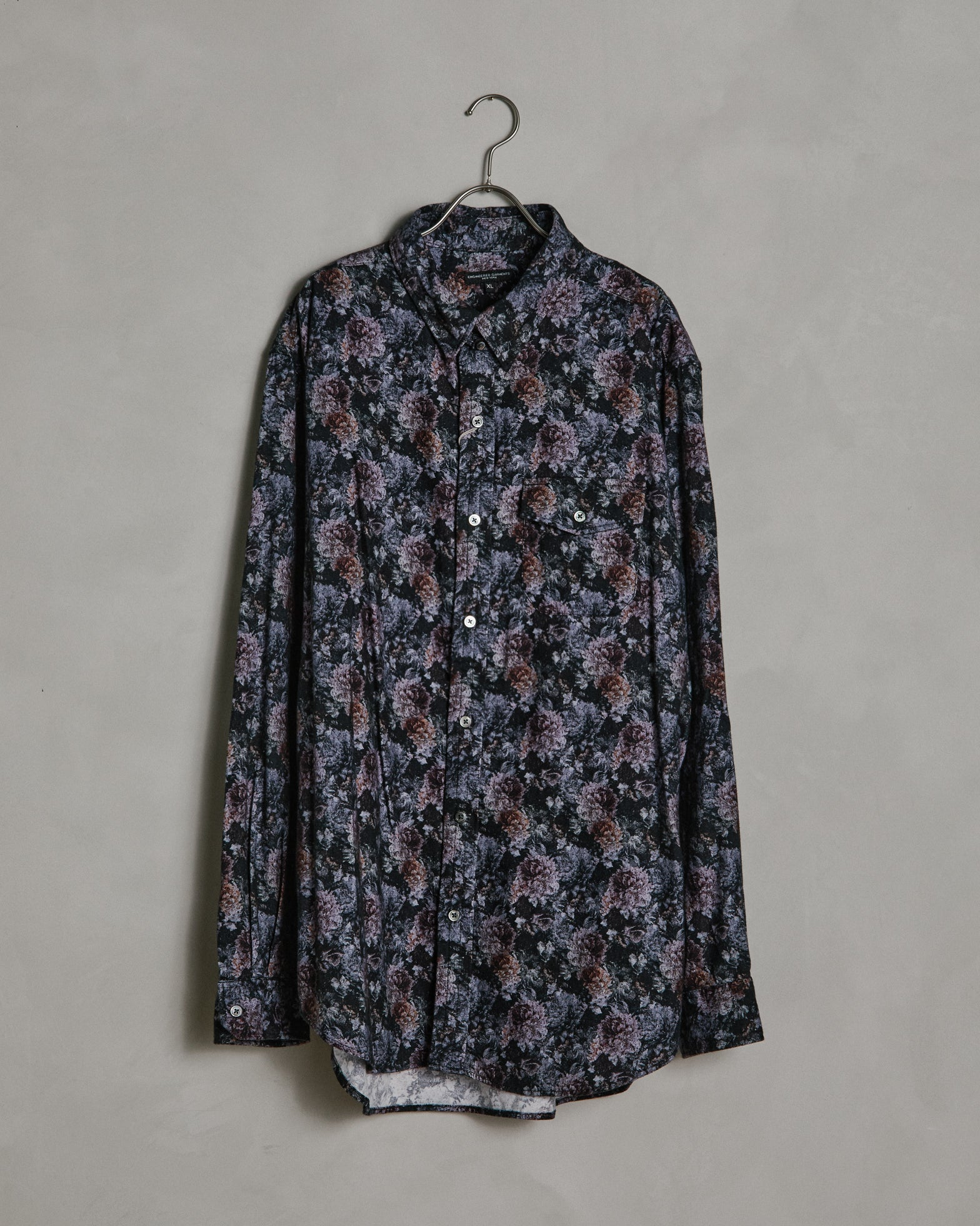 Tab Collar Shirt in Purple