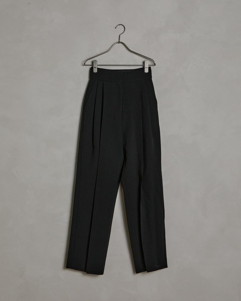 Pintuck Pants in Black