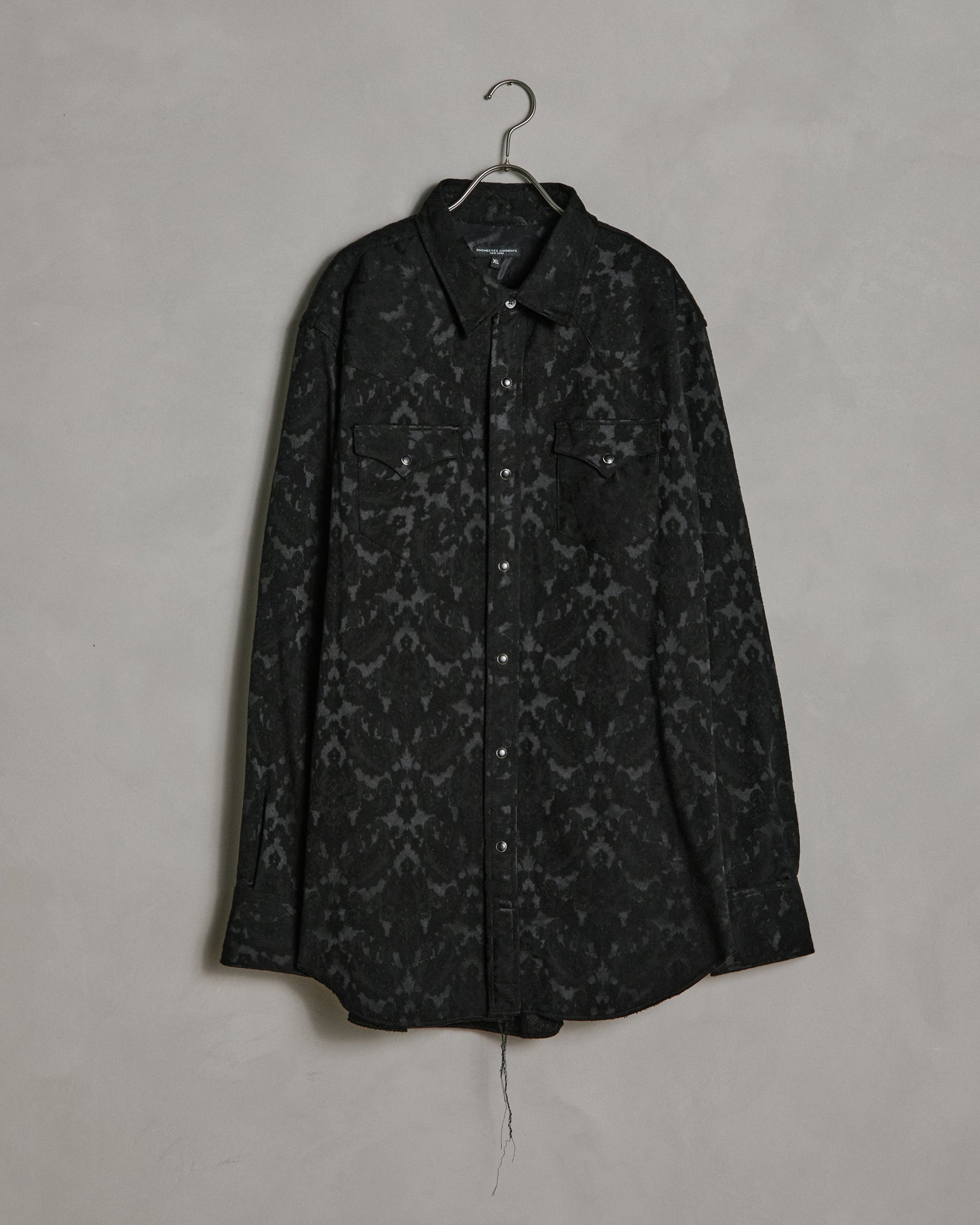Western Shirt in Black Paisley