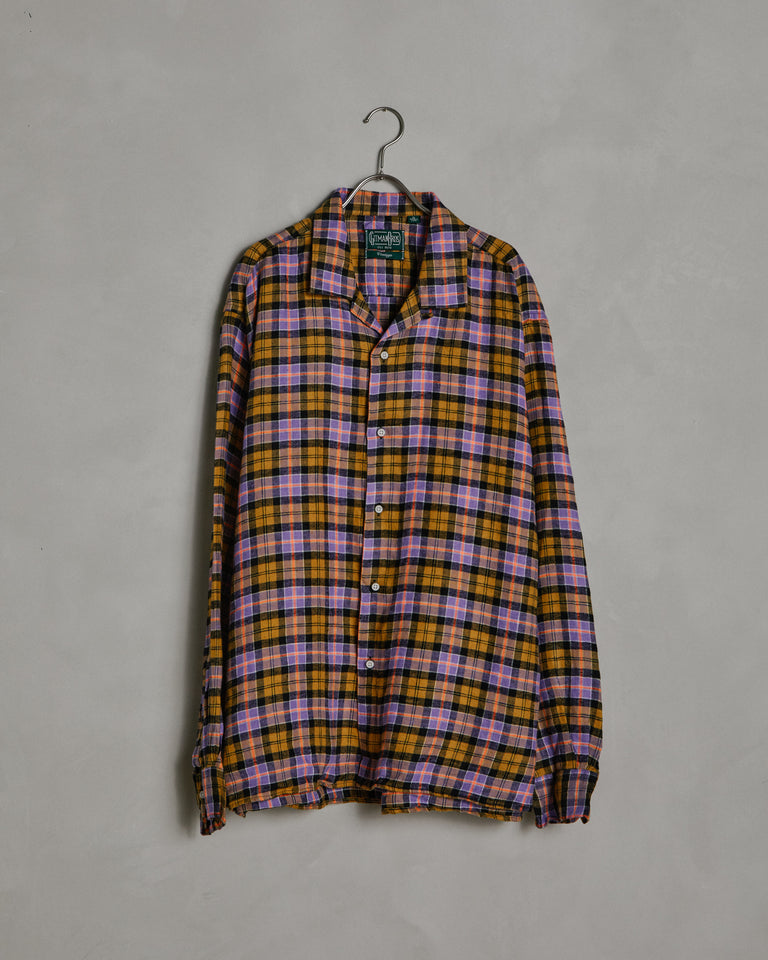 L/S Vintage Camp Shirt in Purple Check