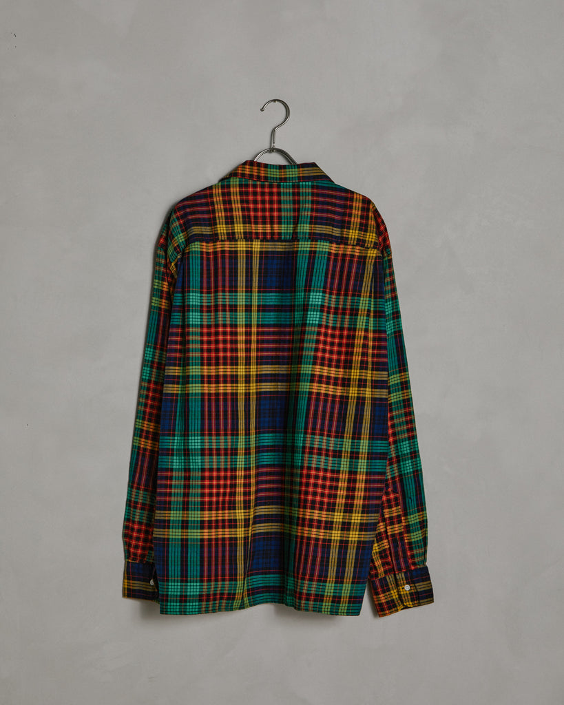 L/S Vintage Camp Shirt in Green Check