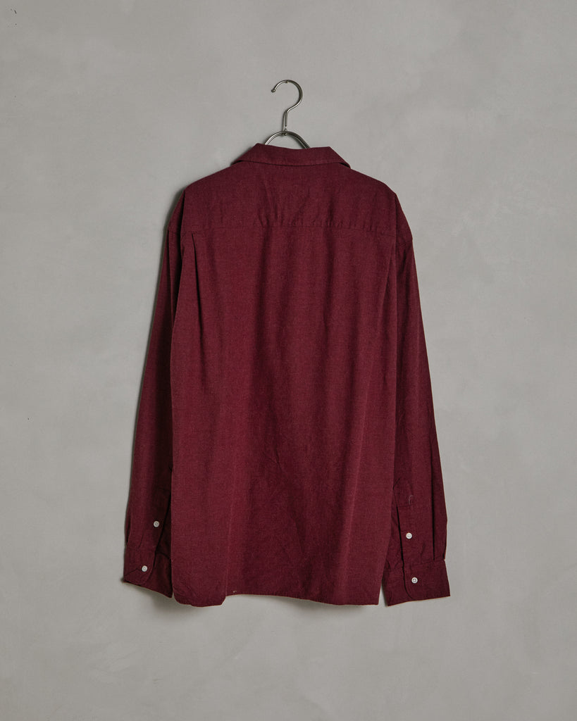 L/S Vintage Camp Shirt in Maroon