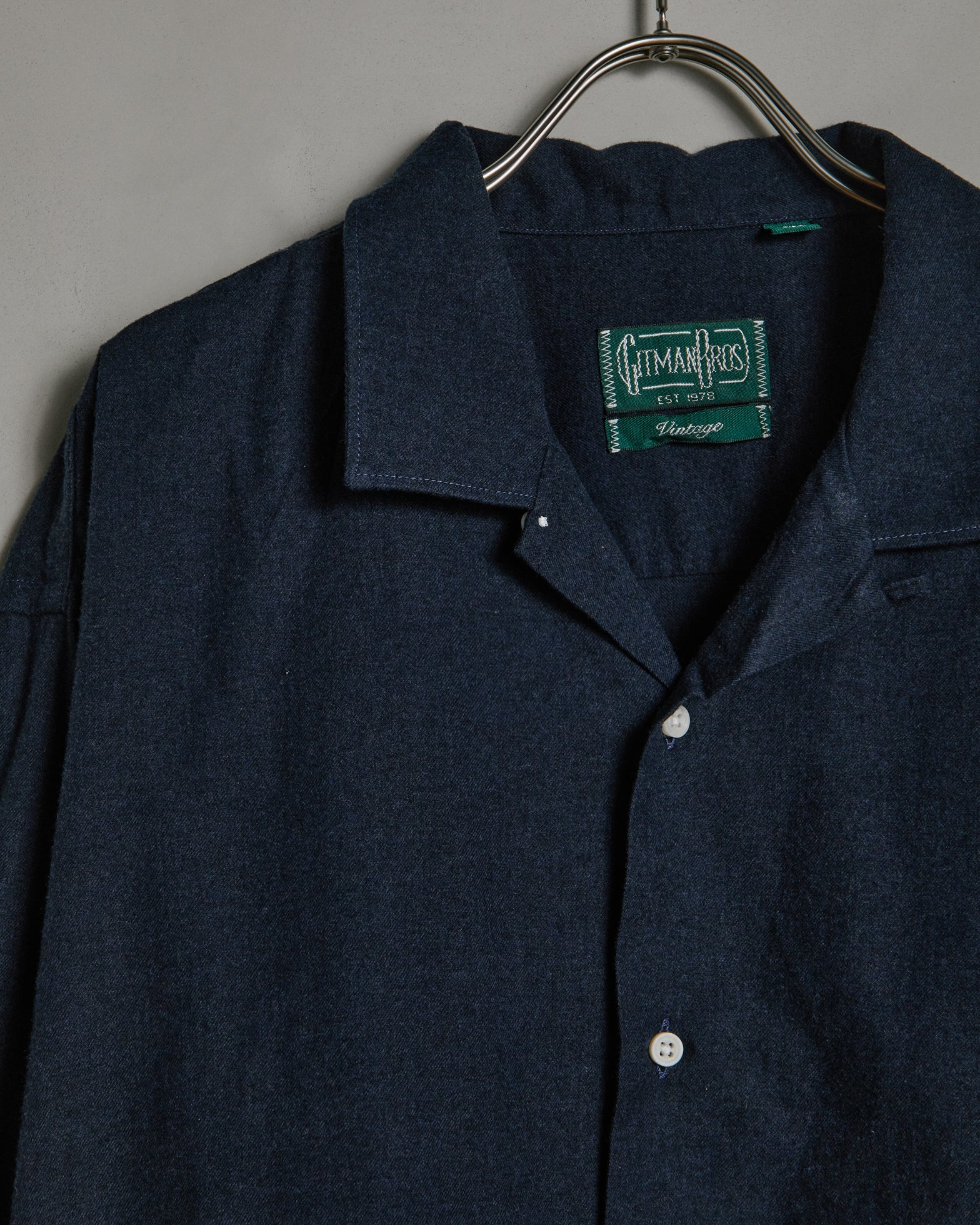 L/S Vintage Camp Shirt in Navy