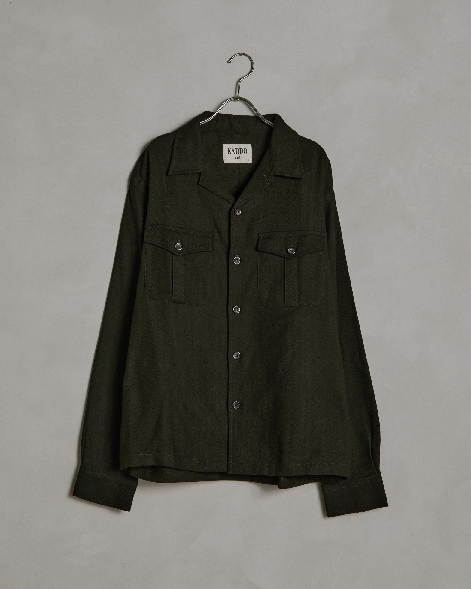 Damien Shirt in Very Dark Green