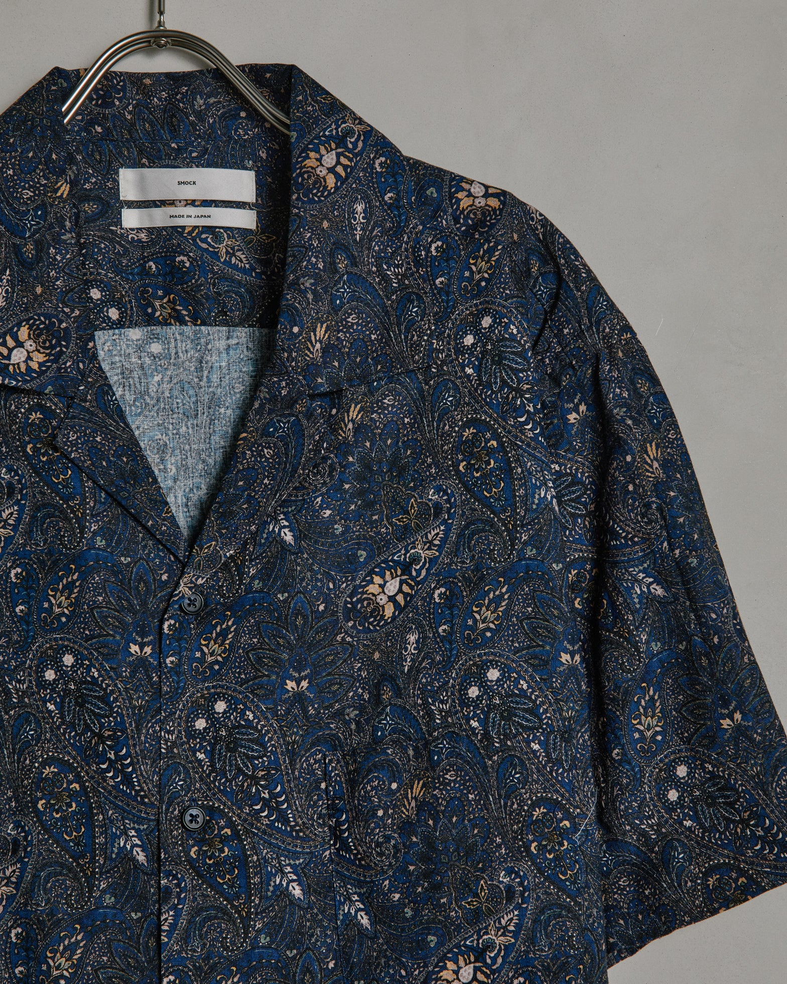 Camp Shirt in Navy Paisley