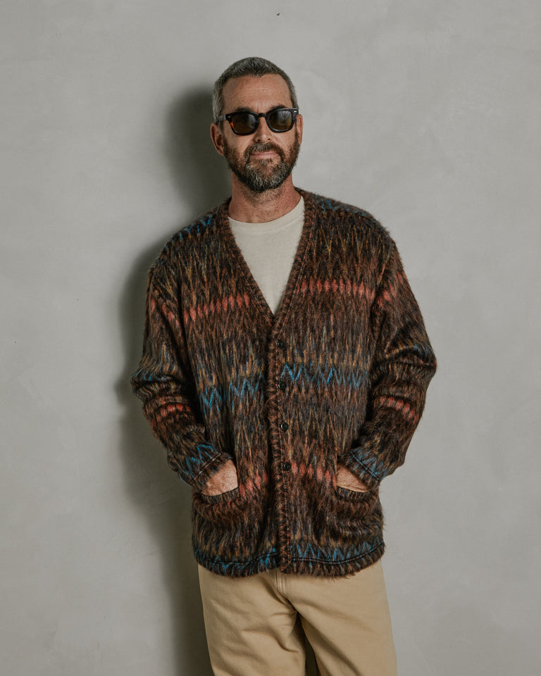Shaggy Cardigan in Multicolor