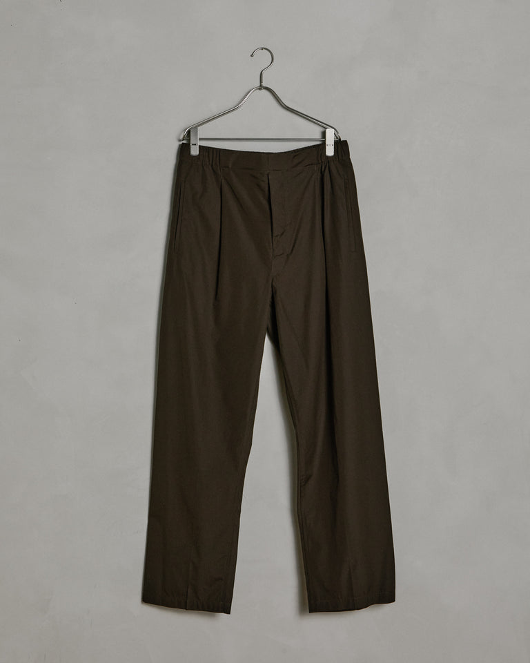 Pleated Drawstring Pants in Midnight Green