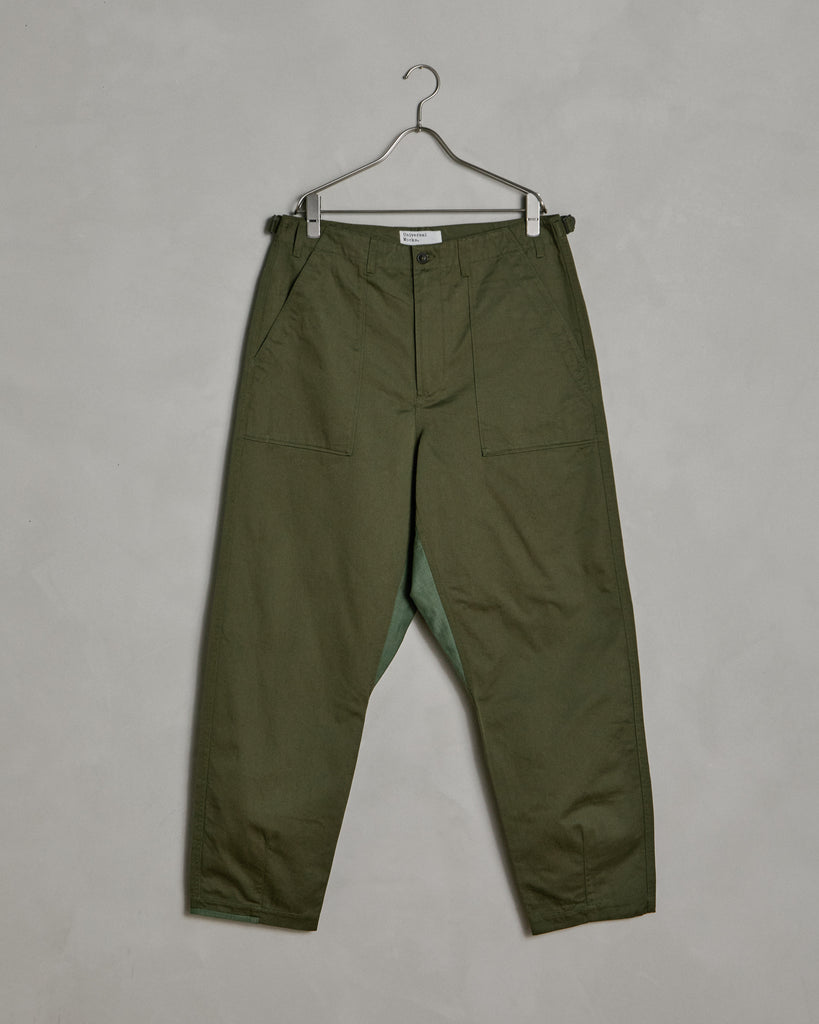 Patched Mill Fatigue Pants in Light Olive