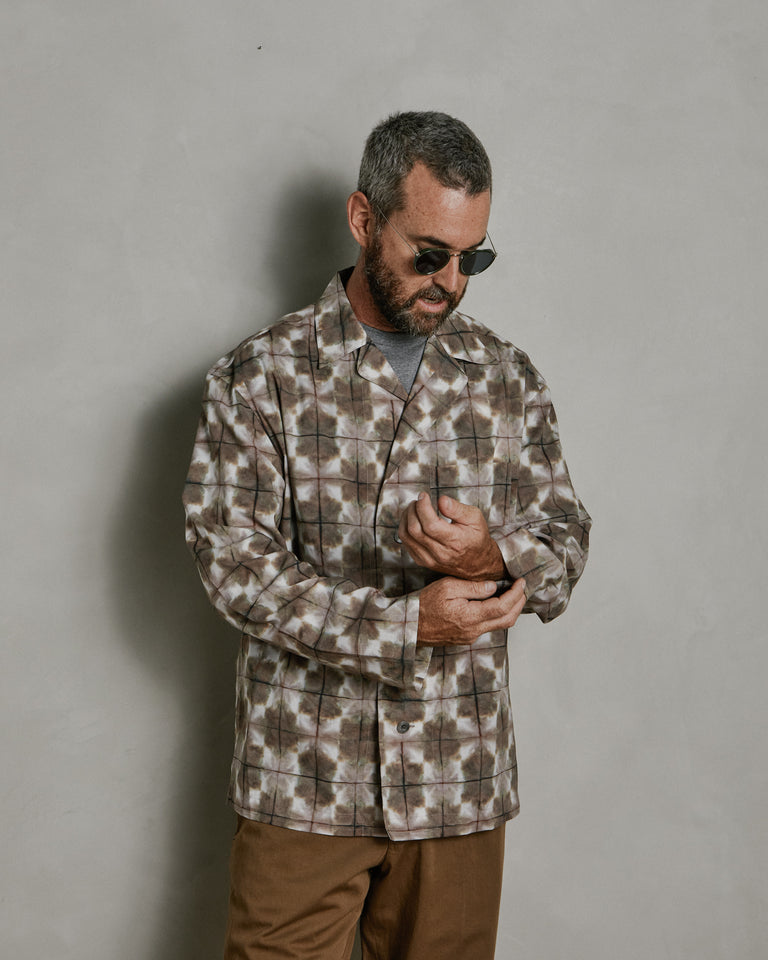 Pyjama Shirt in Beige/Brown
