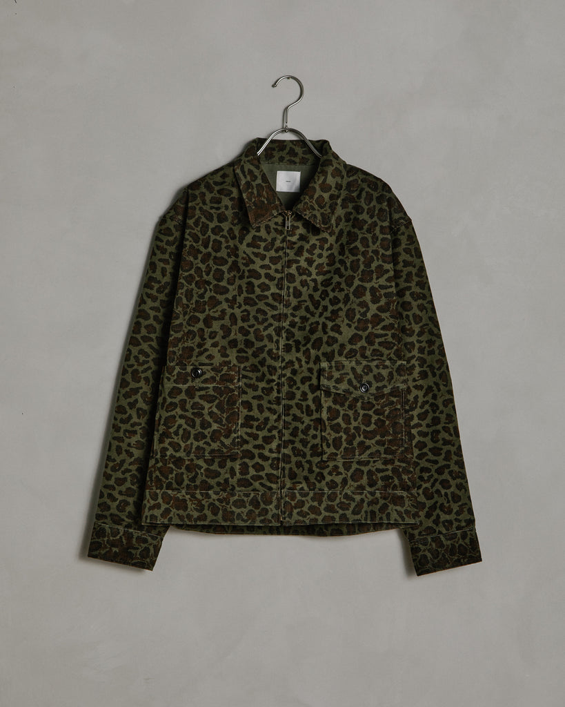 Zip Jacket in Cheetah Cord