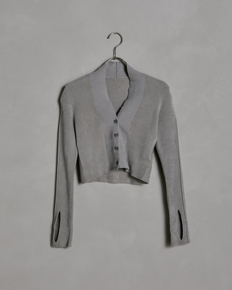 Le Cardigan Velours in Grey