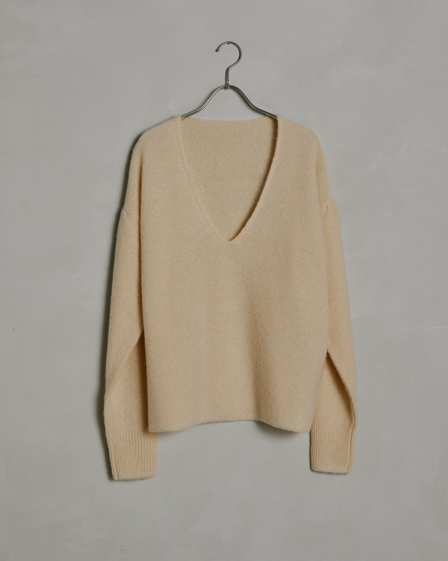 V-Neck Sweater in Butter