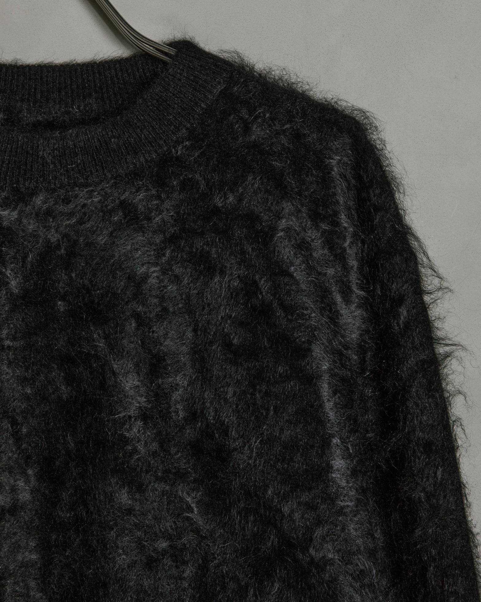 Cashmere Shaggy Dog Sweater in Black