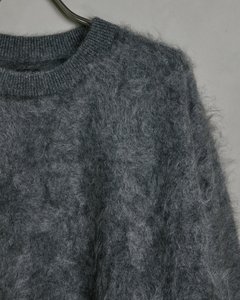 Cashmere Shaggy Dog Sweater in Grey