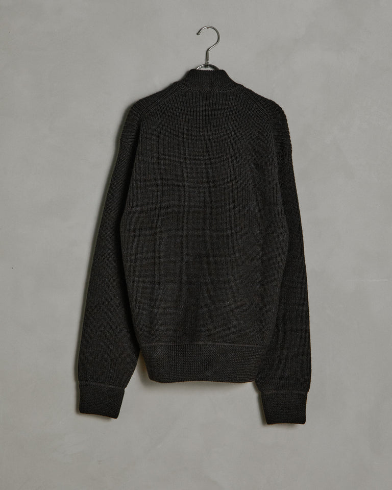 Zip Rollneck in Dark Brown