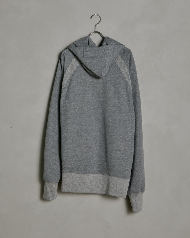 Plain Raglan Hoody in Grey