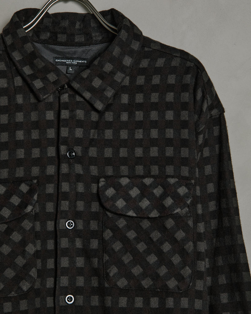 Classic Shirt in Black Brown Check