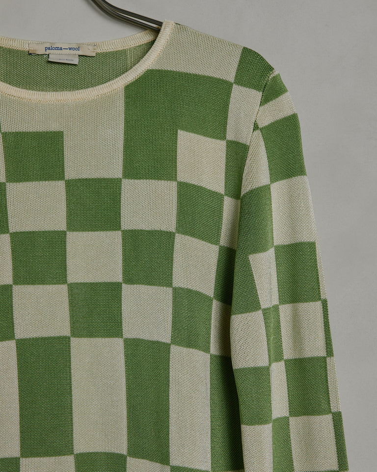 El Valle Sweater in Lime Green