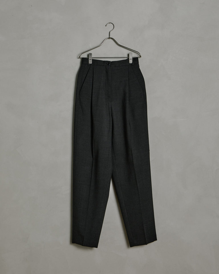 Peggerine Double Suit Trouser in Charcoal Grey