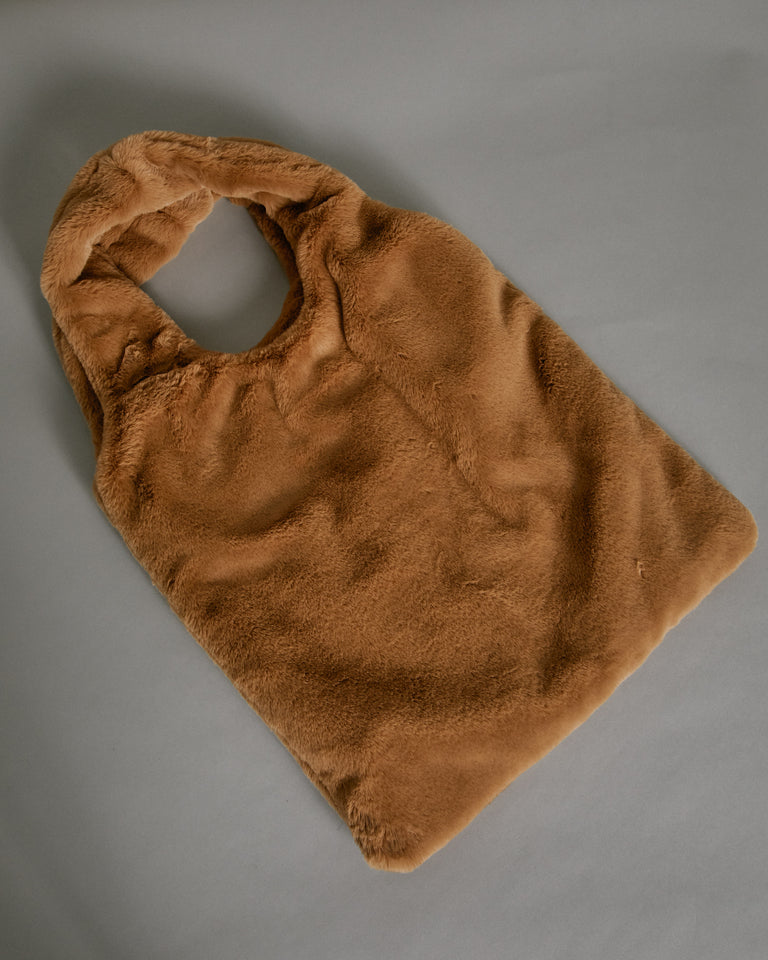 Shopping Tote in Camel