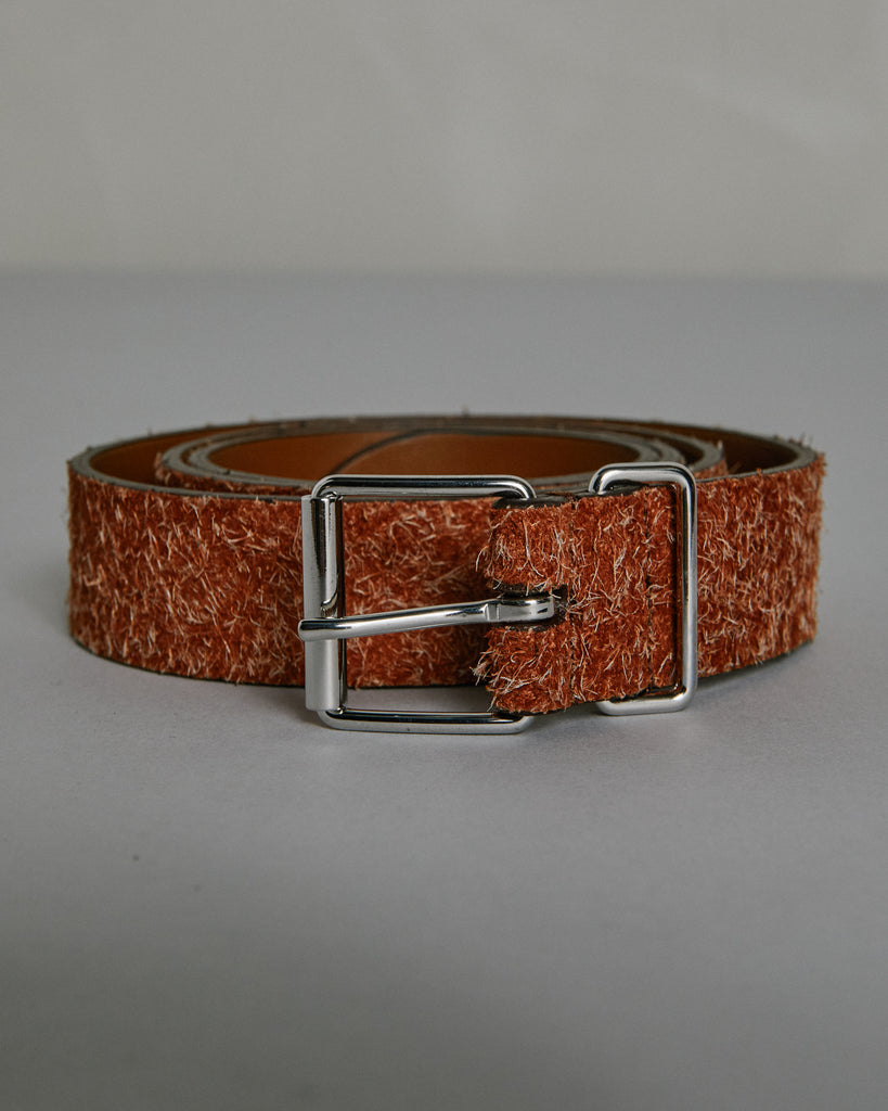 English Silver Buckle A1942PL151 Belt in Saddle Brown