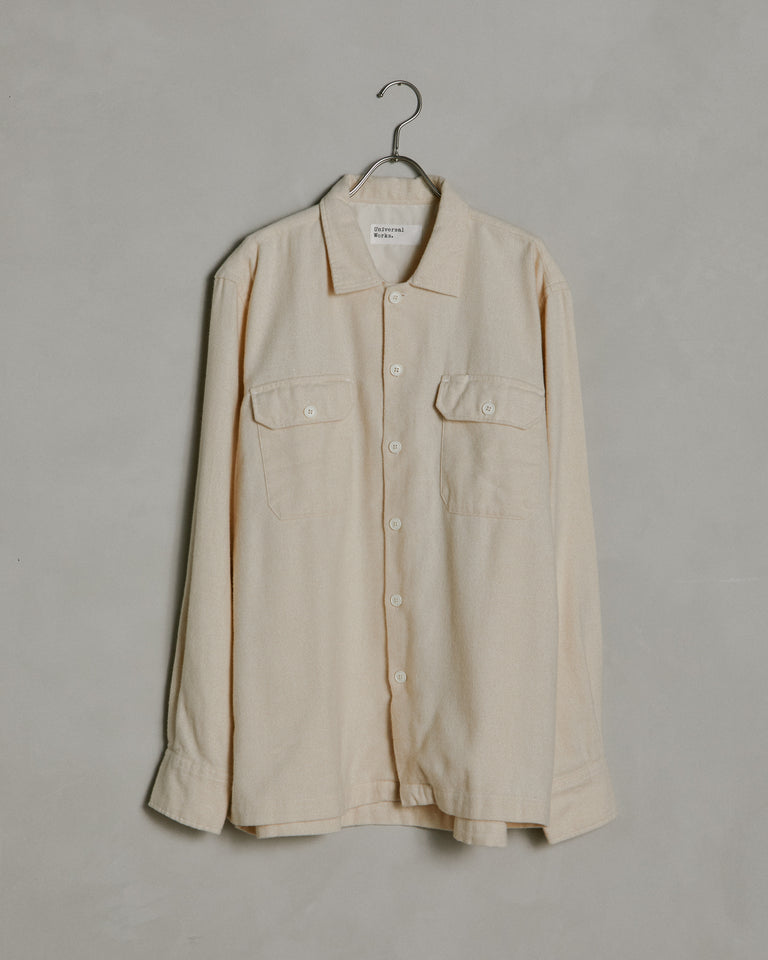 Long Sleeve Utility Shirt in Ecru