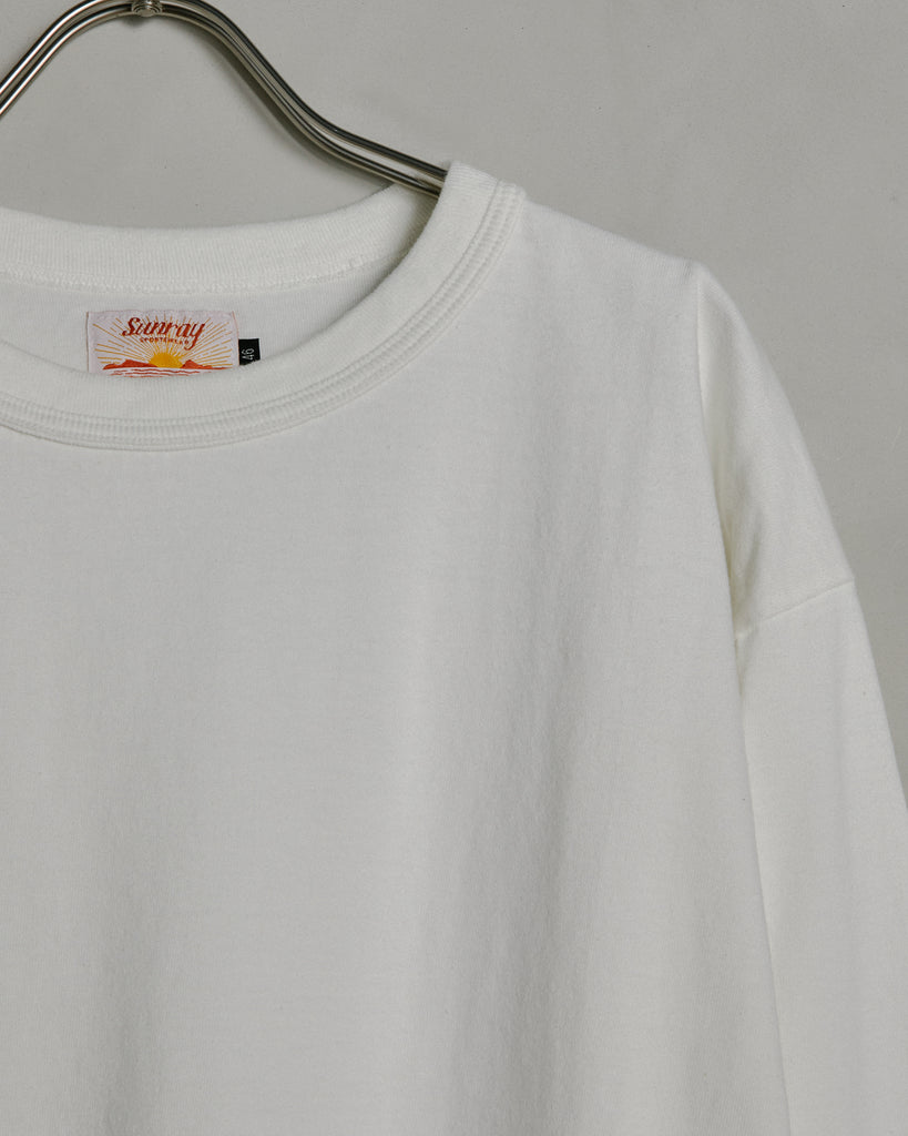 Makaha Long Sleeve Tee in Off White