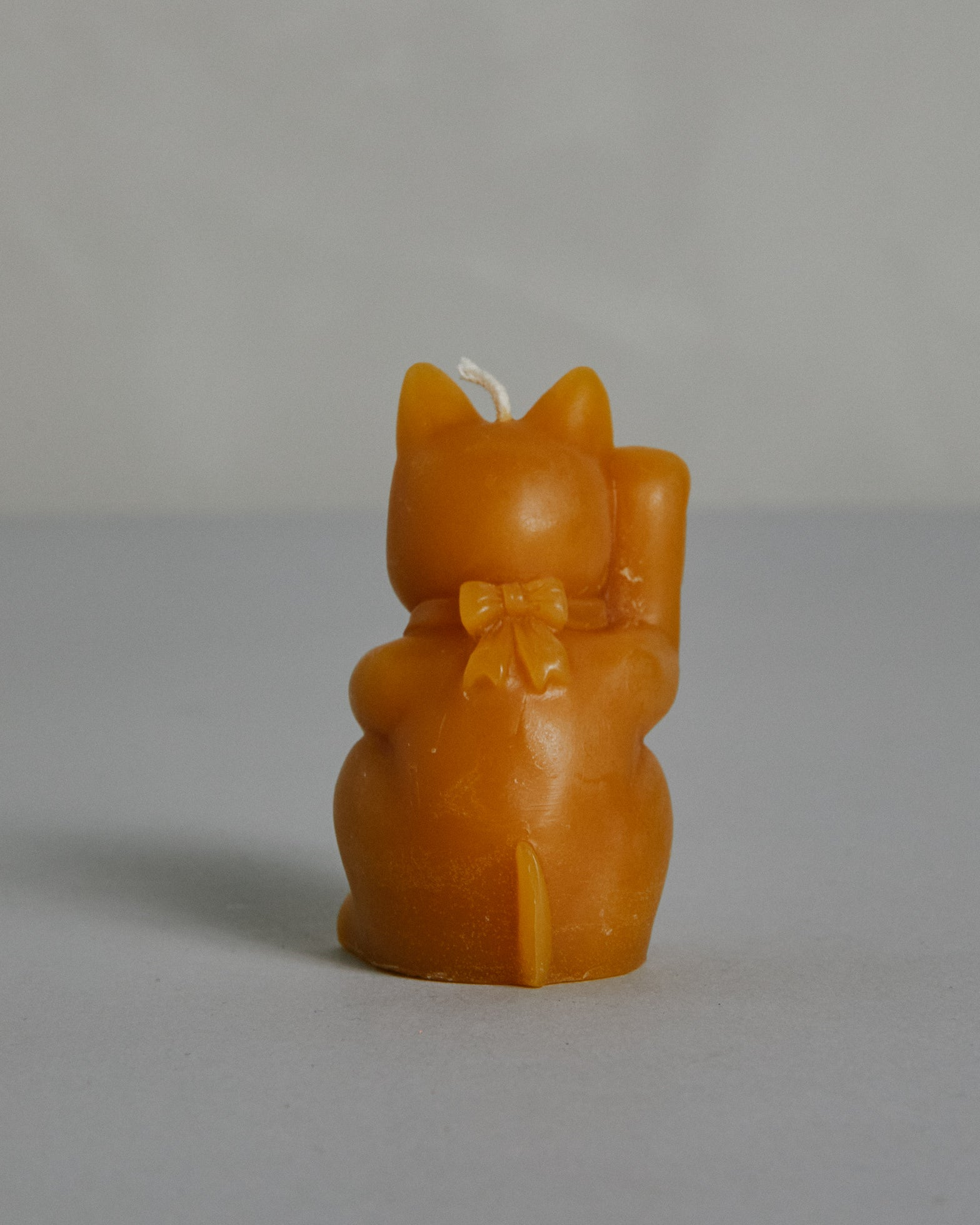 Good Luck Cat Beeswax Candle