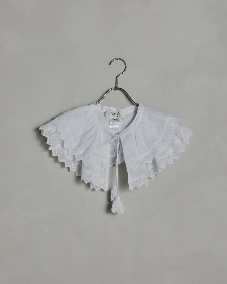 Zoria Ramie Cotton Collar in Cream