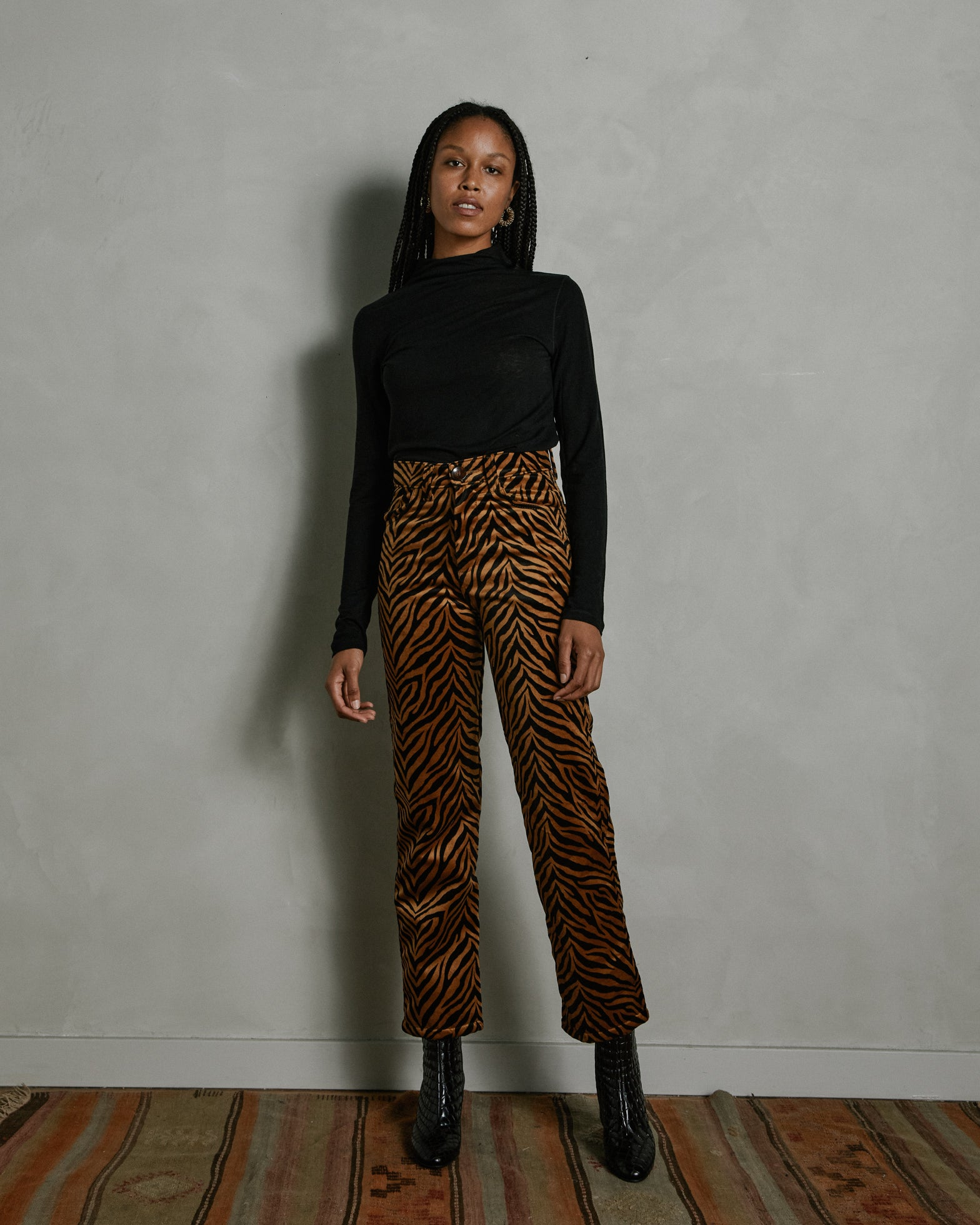 Rumba Trouser in Velvet Printed