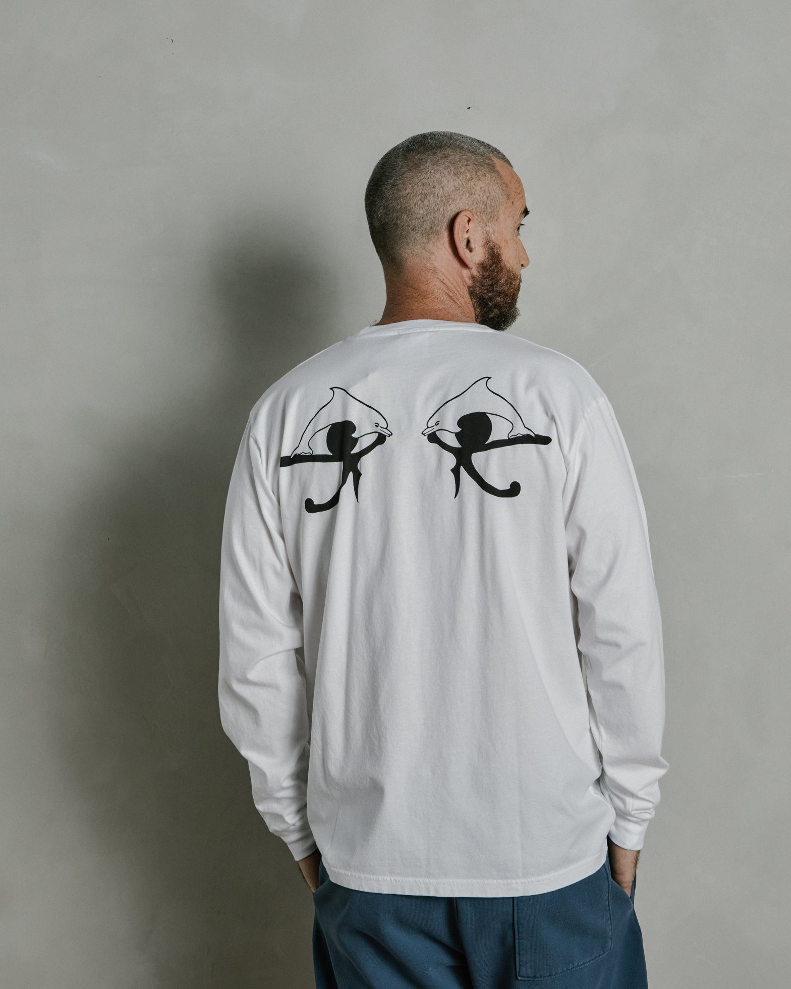 Crystal Mountain Long Sleeve Tee in White