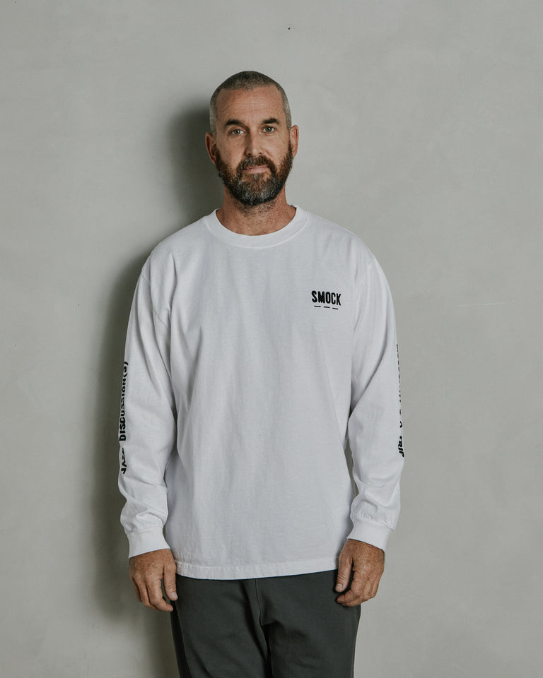 Live Entertainment Long Sleeve Tee in White