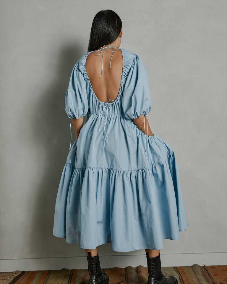Libby Dress in Misty Blue