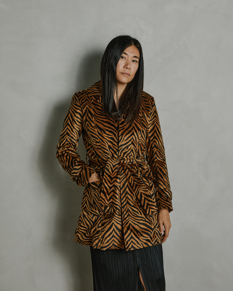 Kaia Jacket in Velvet Printed
