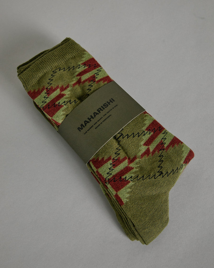 Argyle 3-Pack Socks in Olive Multi