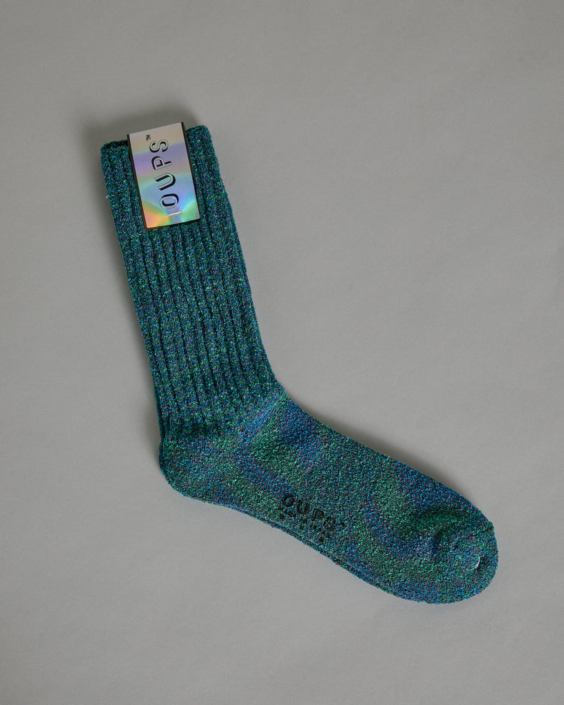 Patola Pile Socks in Green