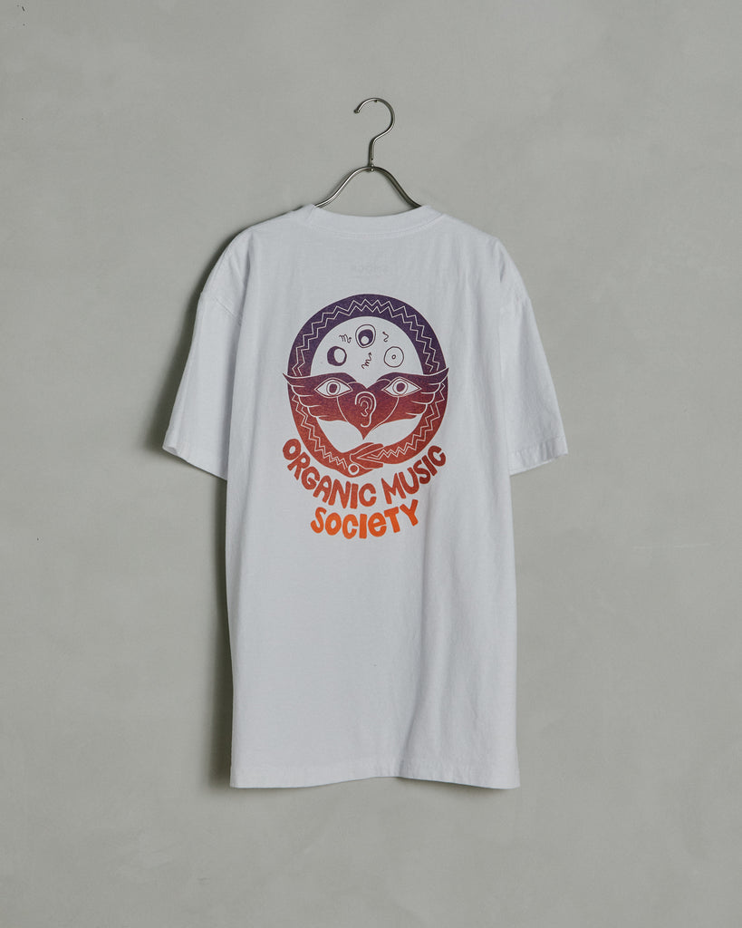 Circle Snake Short Sleeve Tee in White