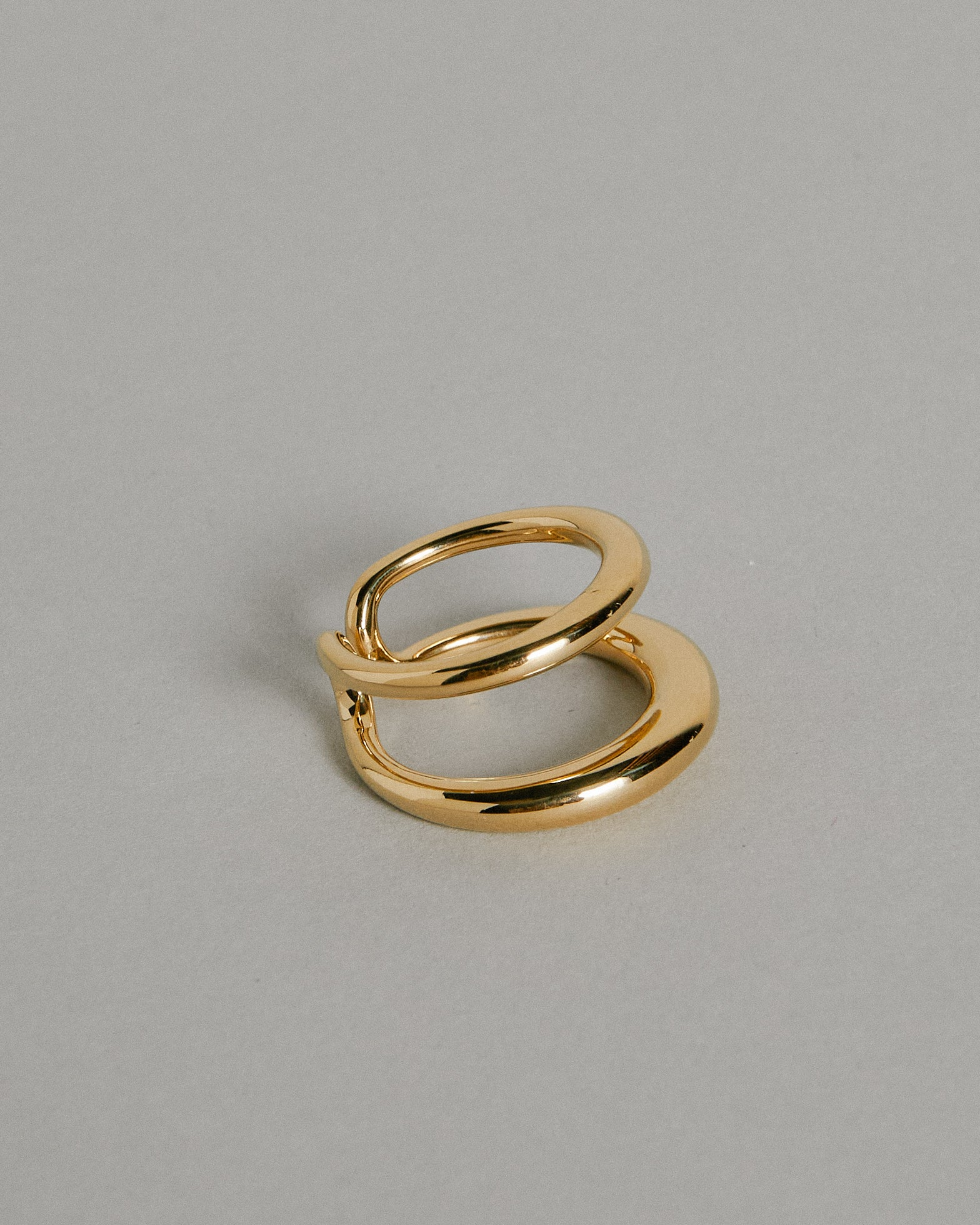Twin Tusk Ring in Yellow