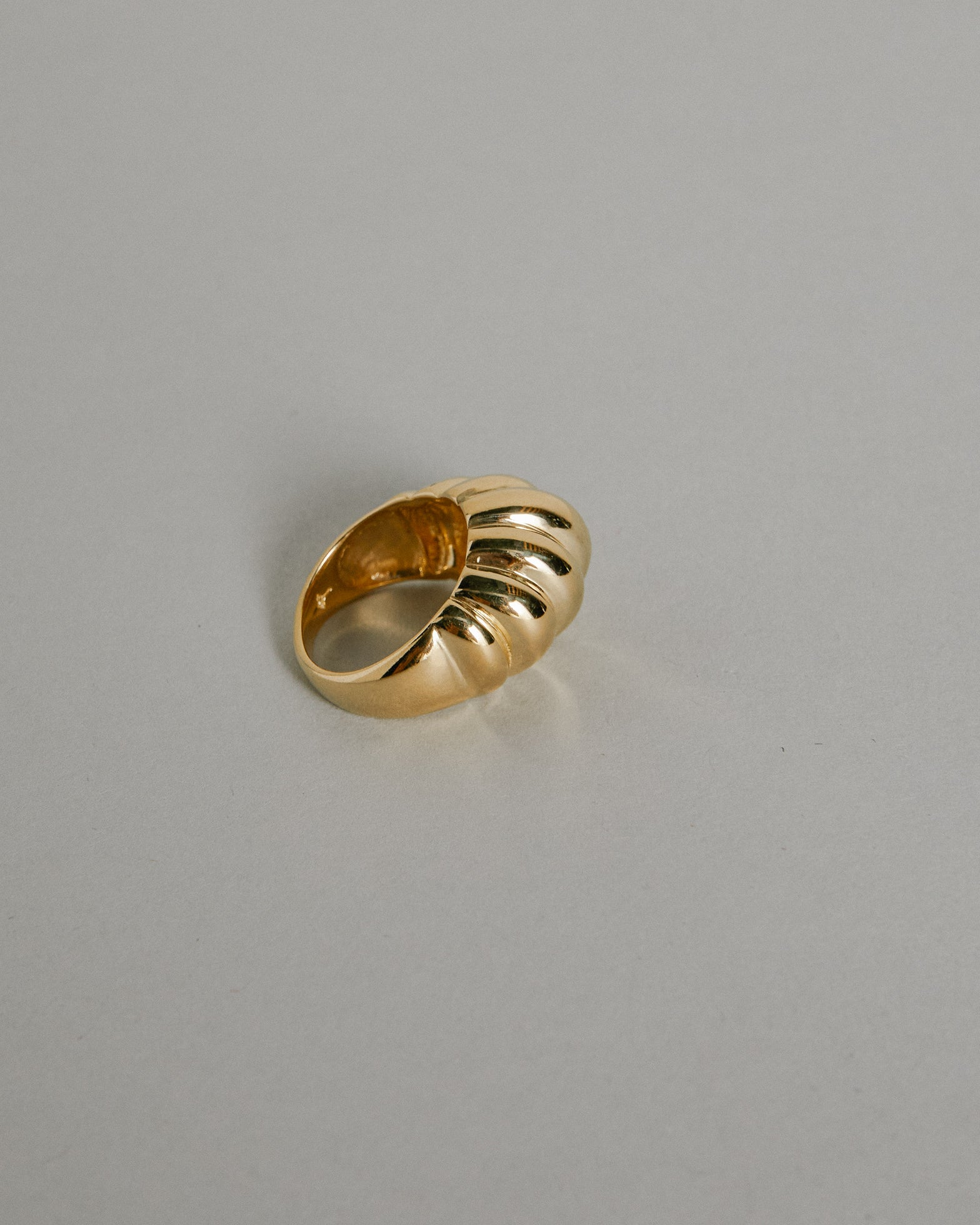 Large Lattice Ring 14K Gold Plated