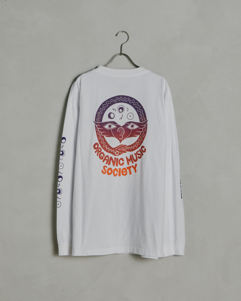 Circle Snake Long Sleeve Tee in White