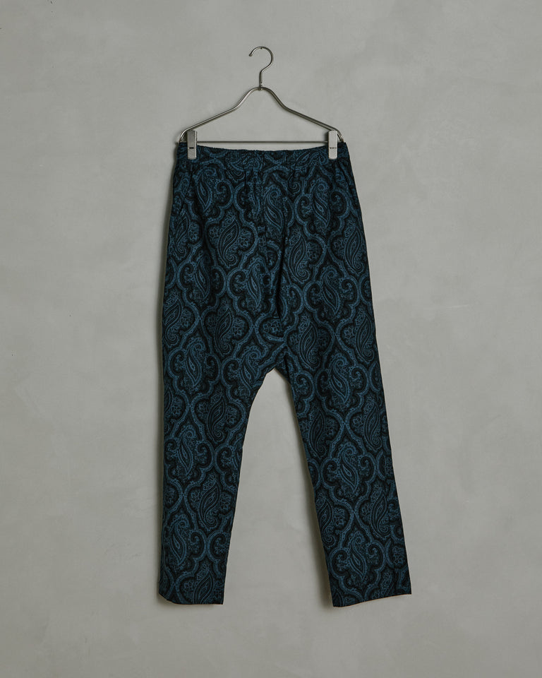 Monterey Pop Paisley Yoyogi Pant in Navy