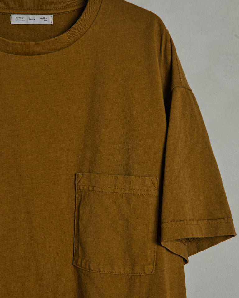 Big Pocket Tee in Dune Yellow