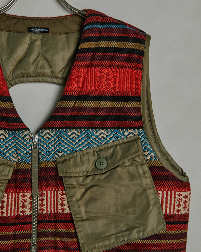 Hill Tribe C-1 Utility Vest in Lama Red/Maha Olive