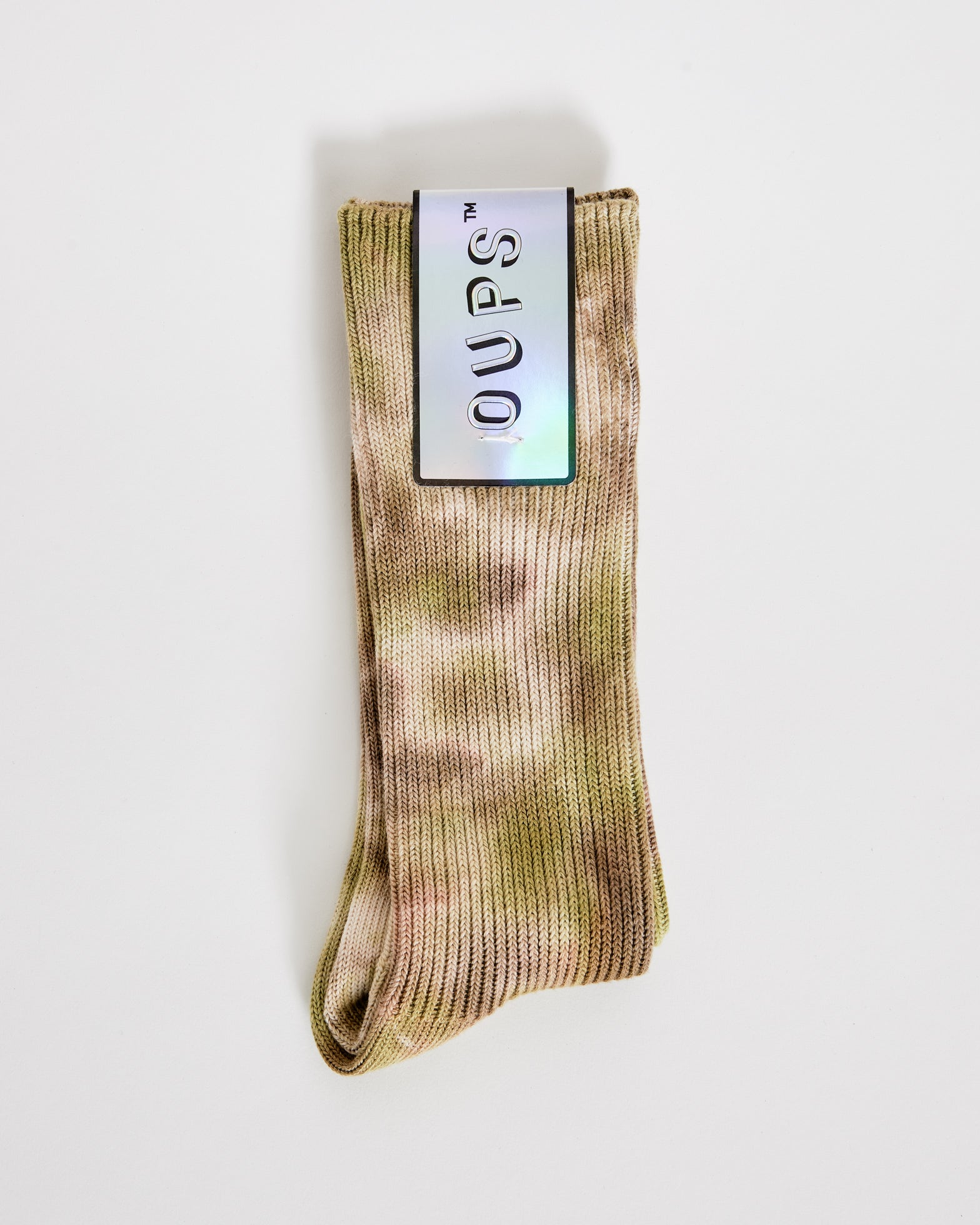 Tie Dye Socks in Brown Green