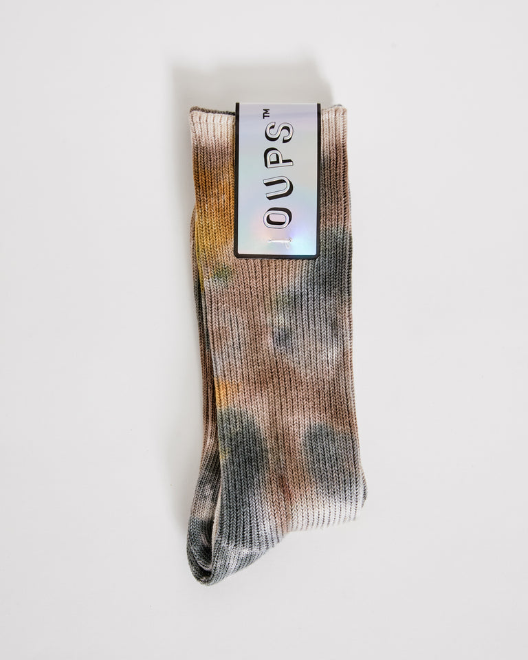 Tie Dye Socks in Grey Blue