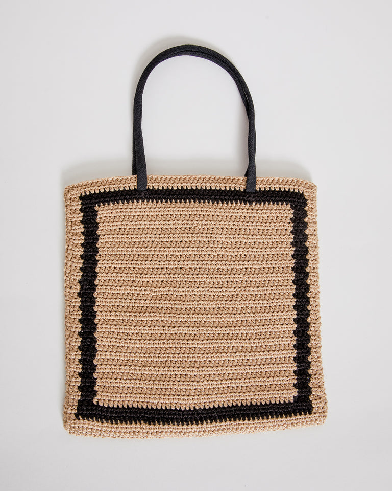 Rool Tote in Straw Square