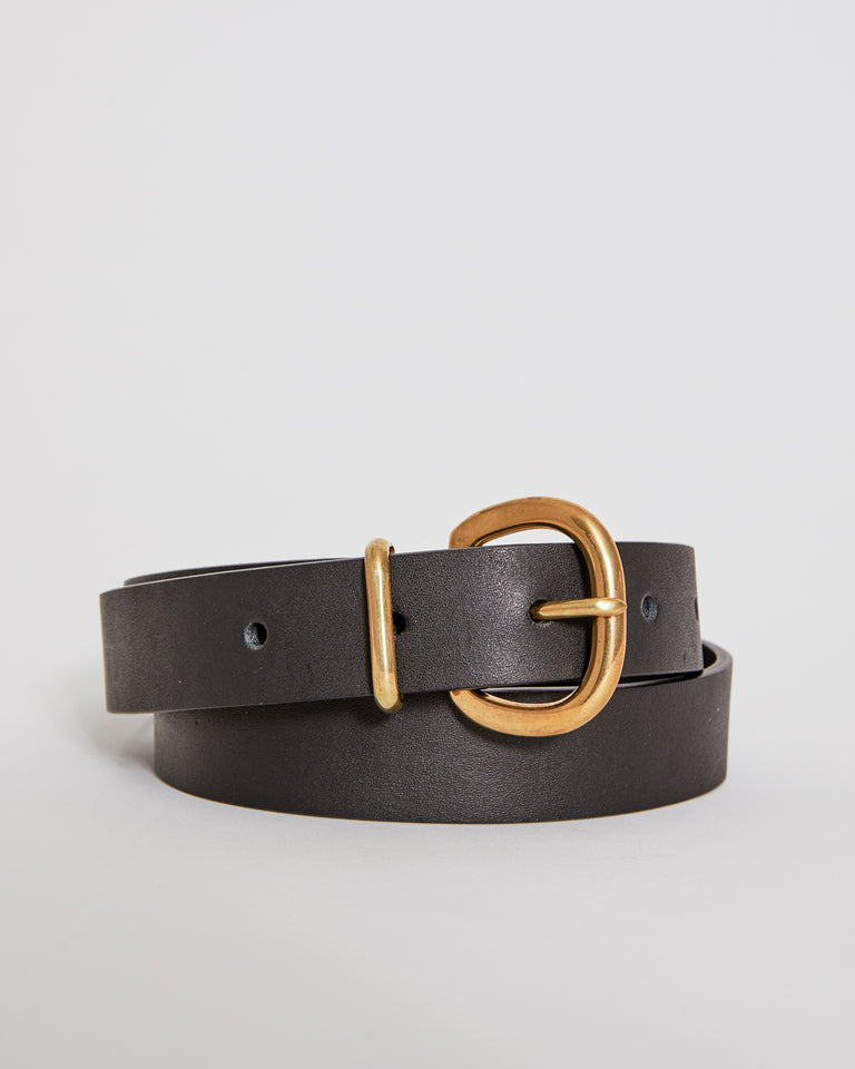 Thin Estate Belt in Black