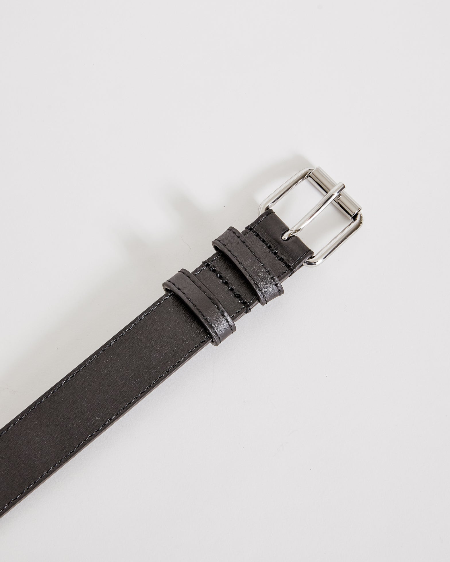 Classic Leather Belt 0912 in Black